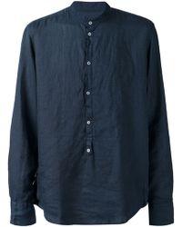 Massimo Alba Band Collar Shirt - Lyst