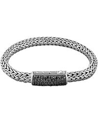 John Hardy Mens Classic Chain Black Sapphire Station Clasp Bracelet - Lyst