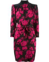 Yves Saint Laurent Vintage Floral Pattern Dress - Lyst