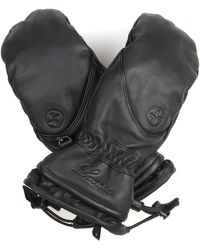 Lacroix - Lx Initial Leather Mittens - Lyst