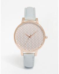 ASOS Honeycomb Dial Detail Watch - Metallic