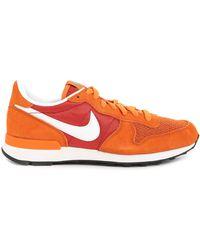 Nike Internationalist Orange Suede And Mesh Sneakers - Lyst