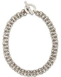 Karen Millen Swarovski Crystal Bar and Hoop Necklace - Lyst