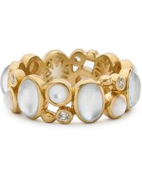 Elizabeth Showers - Madeleine Mother-of-pearl  Diamond Eternity Ring - Lyst