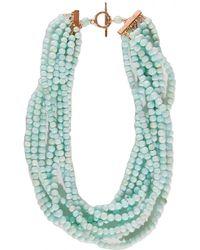 Theodosia - Peruvian Blue Opal Necklace - Lyst