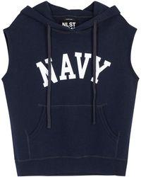 NLST | Navy Printed Cotton Blend Sweatshirt | Lyst