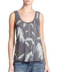 Wildfox Bamboo Road Printed Tank Top - Lyst