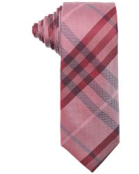 Burberry London Military Red Nova Check Print Silk 'Rohan' Tie red - Lyst