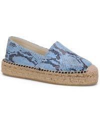 Carmen Marc Valvo - Bristol Embossed Faux-leather Slip-on Espadrilles Sneakers - Lyst