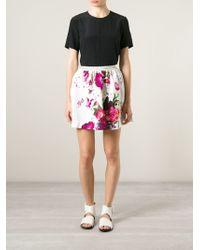 Isola Marras - Floral Print Skirt - Lyst
