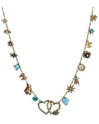 Katherine Wallach - Blue Heart Necklace - Lyst