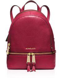 MICHAEL Michael Kors   Extra Small Rhea Zip Backpack   Lyst