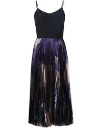 Victoria, Victoria Beckham Pleated Print Dress - Lyst