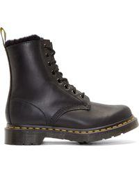 Dr. Martens Black 8_Eye Serena Boots black - Lyst