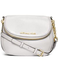 Michael Kors Bedford Saffiano Leather Crossbody - Lyst