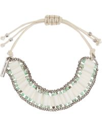 Isabel Marant Bone Turquoise and Silver-plated Bracelet - Lyst