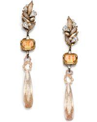 Erickson Beamon Stratosphere Crystal & Faux Pearl Long Drop Earrings - Lyst