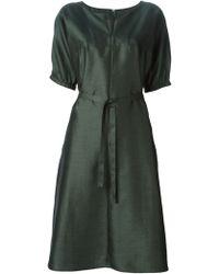 Aspesi Half Sleeve Waist Tie Dress - Lyst
