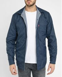 Levi's | Blue Chambray Nylon Reversible Quilted Shirt-style Jacket | Lyst