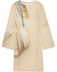 Stella McCartney Lotta Printed Washed-Silk Dress - Lyst