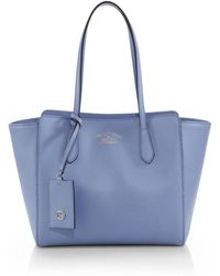 Gucci Swing Small Leather Tote - Lyst