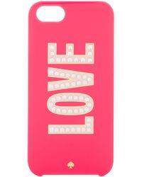 Kate Spade Love Iphone 5 Case - Lyst