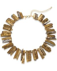 Kenneth Jay Lane Bronzed Stick Collar Necklace - Lyst