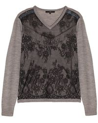Tibi Chantilly Lace Sweater - Lyst