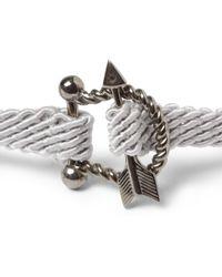 Yuvi - Sterling Silver Diamond and Woven Cord Bracelet - Lyst