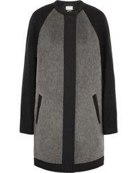 Etoile Isabel Marant Cazar Brushed Wool-Blend Felt Coat - Lyst