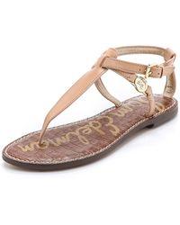 Sam Edelman Galia Thong Sandals - Natural Naked - Lyst
