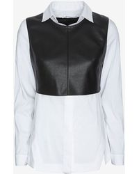 Bailey 44 Exclusive Leather-like Shirting Overlayer - Lyst