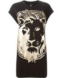 Versus  Lion Tunic Dress - Lyst