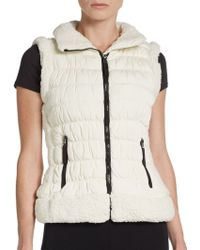 Calvin Klein Performance Faux Shearling Trimmed Performance Vest - Lyst
