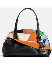COACH | Outlaw Satchel In Patchwork Leather | Lyst