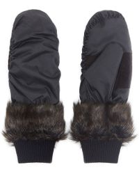 Whistles Ruby and Ed Ebony Fox Mittens - Lyst