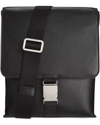 Calvin Klein Saffiano Leather City Bag - Lyst