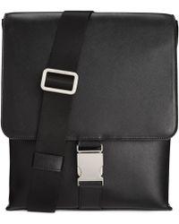 Calvin Klein Saffiano Leather City Bag black - Lyst