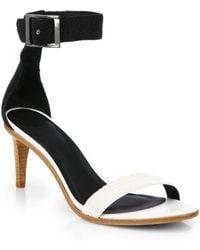 Tibi Ivy Textured Ankle-Strap Sandals - Lyst