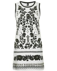 Topshop Embroidered Crystal Dress - Lyst