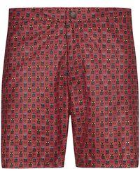 Fendi Creature Print Swim Shorts - Lyst