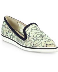 Nicholas Kirkwood Lace Point-Toe Loafers - Lyst