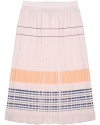 O'2nd - Bobby Embroidered Pleated Skirt - Lyst