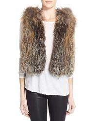 Tasha Tarno   Fox Fur Hooded Vest   Lyst