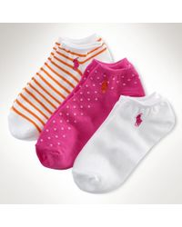 Ralph Lauren Pink Lowprofile-sock 3pack - Lyst