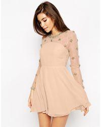 Asos Exclusive Princess Cluster Mini Dress - Lyst