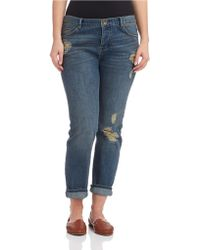 Free People Blue Boyfriend Jean - Lyst