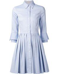 Michael Kors Pleated Shirt Dress - Lyst