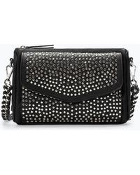 Zara Studded Messenger Bag - Lyst