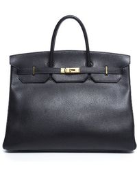 Hermes Pre-owned Black Ardennes Leather Birkin 40 Bag - Lyst